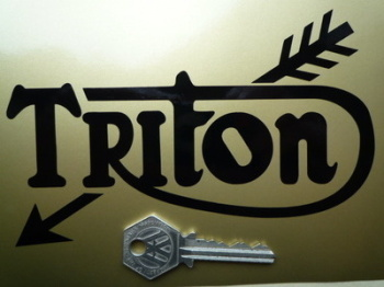 "Triton Cut Vinyl Text Sticker. 6"" Pair."
