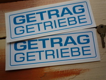 "Getrag Getriebe Oblong Stickers. 8"" Pair."