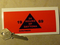 "Daytona 24 Hours Scrutineers Sticker. 4.5""."