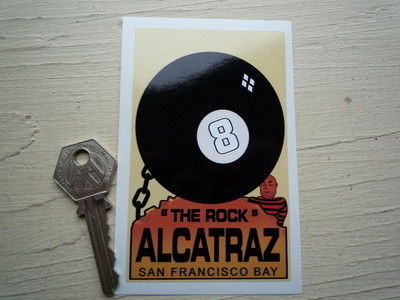 "The Rock Alcatraz, San Francisco Bay Prison Sticker. 4""."