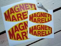 Magneti Marelli Yellow & Red Stickers. 4