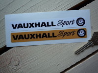 Vauxhall Sport Number Plate Dealer Logo Cover Stickers. 5.5