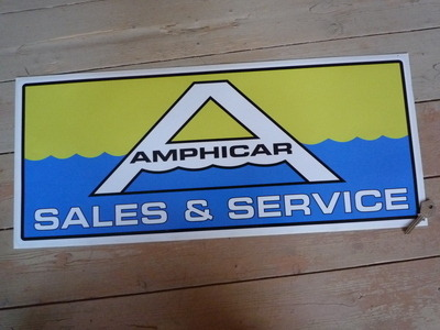 "Amphicar Sales & Service Workshop or Garage Sticker. 23.5""."