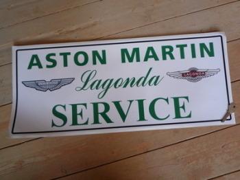 """Aston Martin Lagonda Sales & Service Sticker. 23.5""""."""