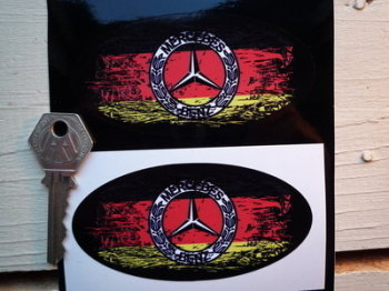 "Mercedes Benz Fade To Black Urban Style Sticker. 4""."