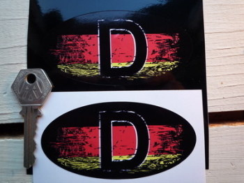 "D Germany Fade To Black ID Plate Urban Style Sticker. 4""."