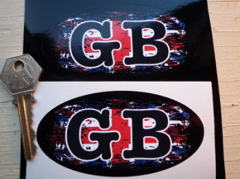 "GB Fade To Black Union Jack ID Plate Sticker. 4"" or 6""."