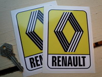 Renault 1972 & on Yellow Logo & Text Stickers. 2.5