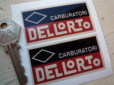 Dellorto Carburatori, Red, Black & Beige Stickers. 2.75