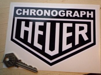 "Chronograph Heuer. Black & White or Black & Beige. 6"" or 8""."