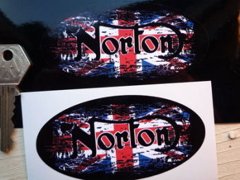 "Norton Fade To Black Urban Style Sticker. 4""."