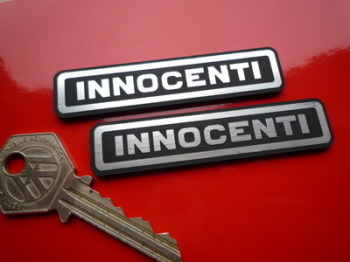 "Innocenti Laser Cut Self Adhesive Scooter Badges. 3"" Pair."