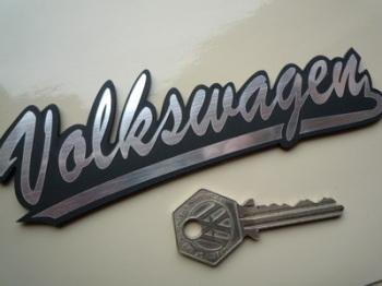 "Volkswagen VW Script Style Laser Cut Self Adhesive Car Badge. 6""."