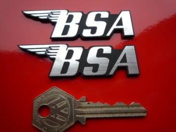 "BSA Laser Cut Self Adhesive Bike Badges. 1.5"", 3"" or 4"" Pair."