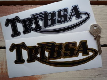 "Tribsa Shaped Text Sticker. 7""."