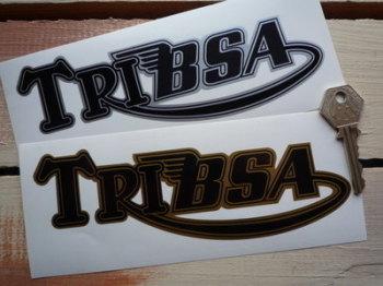 """Tribsa Shaped Text Sticker. 7""""."""