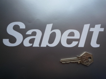 "Sabelt Cut Vinyl Text Stickers. 7.5"" Pair."