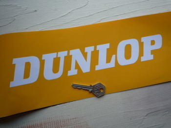 "Dunlop Cut Vinyl Text Stickers. 12"" Pair."