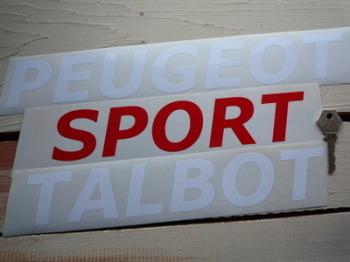 Peugeot Talbot Sport Cut Vinyl Text Sticker.