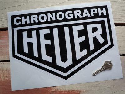 "Chronograph Heuer Sticker. 10""."