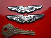 Aston Martin Wings Laser Cut Self Adhesive Car Badge Pair. Various Sizes.
