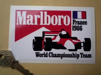 "Marlboro France 1986 World Championship Team Sticker. 5""."