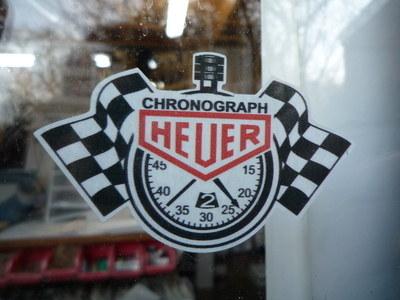 "Chronograph Heuer Stopwatch Window Sticker. 3""."