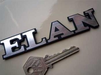 "Lotus Elan Text Laser Cut Self Adhesive Car Badge. 4.5""."