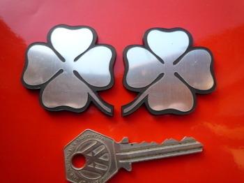 "Alfa Romeo Cloverleaf Laser Cut Self Adhesive Car Badges. 2"" Pair."