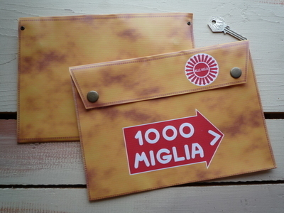 """Mille Miglia Document Holder/Toolbag. 10"""" or A4."""