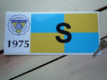 24 Heures Du Mans LeMans Class Sticker - S - 1973 or 1975 - 12""