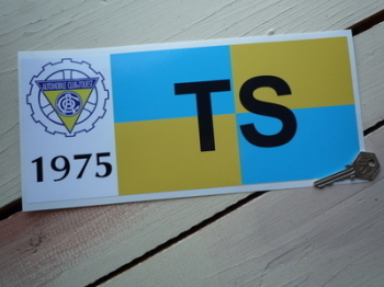"24 Heures Du Mans LeMans Le Mans 1975 Touring Sports TS Class Sticker. 12""."