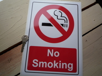 "No Smoking Stickers. 8"" x 11.5"" Pair."