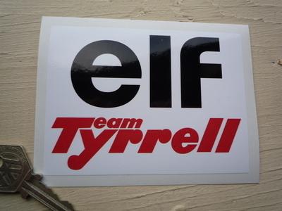 Team Tyrrell & Elf Sticker. 4.5