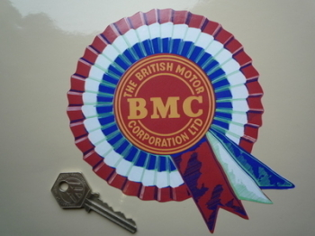 "BMC Aged Shaded Style Rosette Sticker. 6"" or 7""."