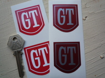"Ford style GT Shield Stickers. 1.5"" Pair."