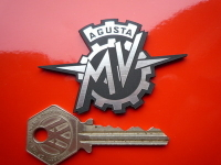 "MV Agusta Laser Cut Self Adhesive Bike Badge. 2.75""."