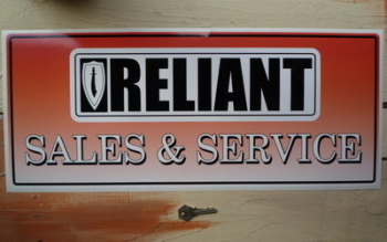 "Reliant Sales & Service Sticker. 23.5""."