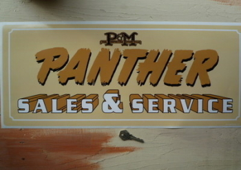 "Panther Sales & Service Sticker. 23.5""."