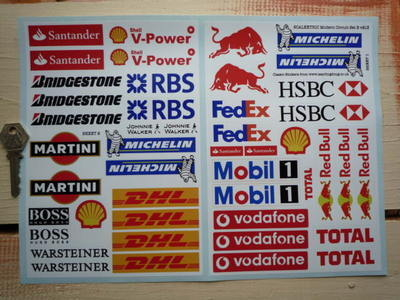 Scalextric Slot Car Racing Modern Trackside Stickers Set B.