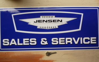 "Jensen Blue Sales & Service Sticker. 23.5""."