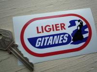 Ligier Gitanes Oval Gypsy Woman Sticker. 3.5