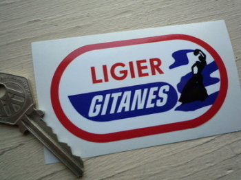 "Ligier Gitanes Oval Gypsy Woman Sticker. 3.5""."