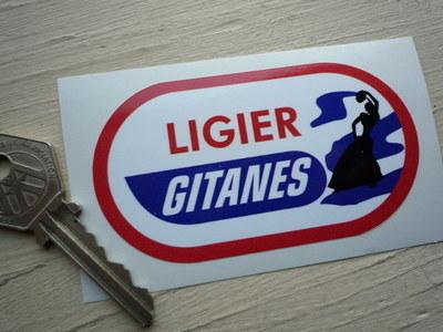 "Ligier Gitanes Oval Gypsy Woman Sticker. 3.5""."