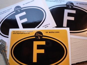"Matra Logo Nationality Country ID Plate Sticker. 5""."