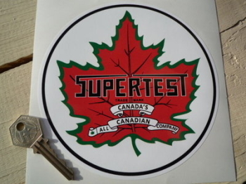 "Supertest Petroleum Circular Sticker. 6"" or 8""."