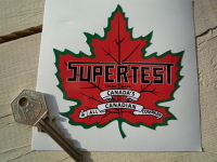 "Supertest Petroleum Shaped Sticker. 4""."