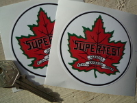"""Supertest Petroleum Circular Stickers. 3"""" Pair."""