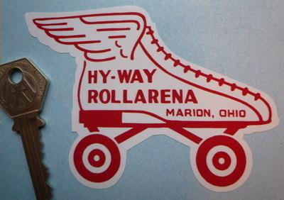 "Hyway Rollarena Marion Ohio Skate Sticker. 4.25""."