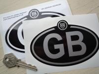 "Jaguar Growler Logo Nationality Country ID Plate Sticker. 5""."